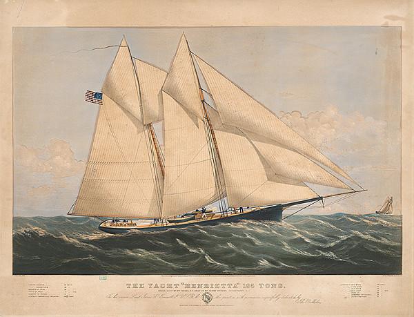 Currier & Ives, C. Parsons – Jachta Henrietta