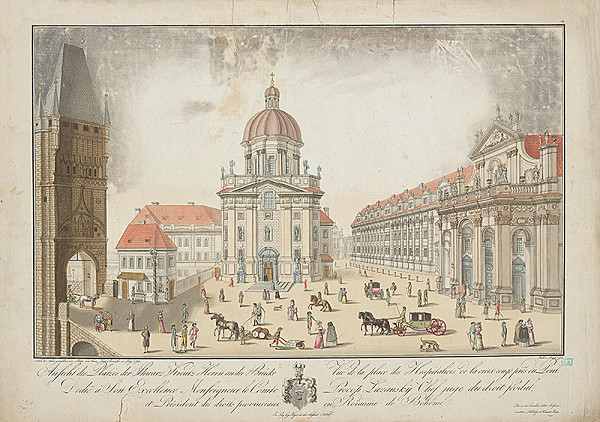 Koch, Franz Heger, Filip Heger - Námestie pred Loretánskym chrámom v Prahe