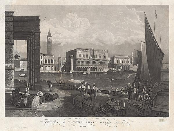 F. Citterio – Veduta Benátok s Dóžacím palácom