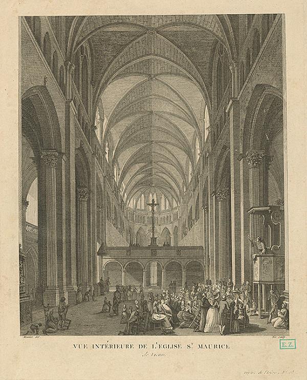 Nér, Pierre Louis Meunier - Pohľad do katedrály St. Mauricia vo Vienne vo Francúzsku