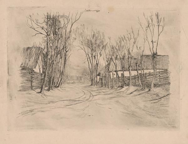 Ján Thain - Dedinská ulička