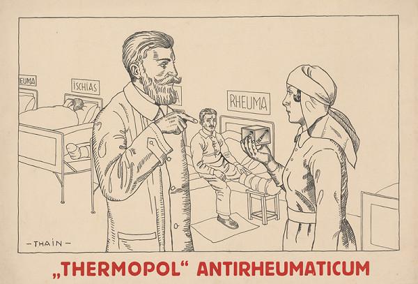Ján Thain – Plagát na antireumatické tabletky Thermopol