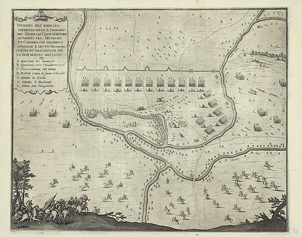 Taliansky rytec zo 17. storočia – Strategická mapa okolia Nových Zámkov