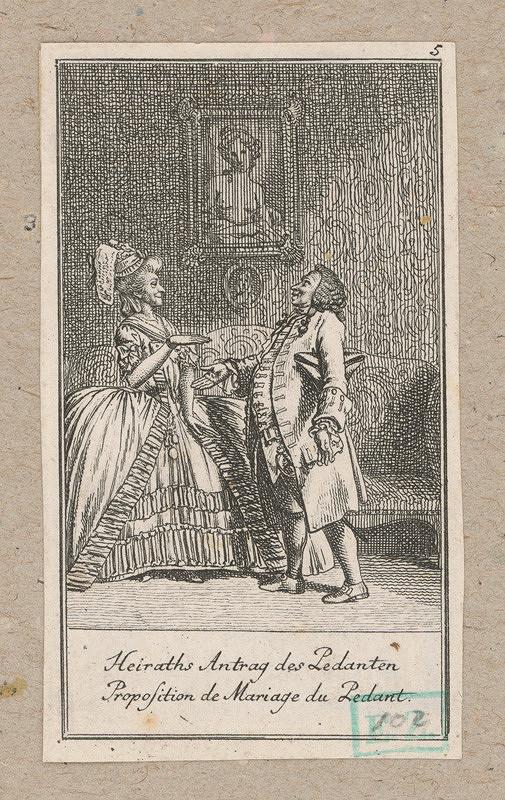 Daniel Nikolaus Chodowiecki - Ponuka k sňatku pedanta