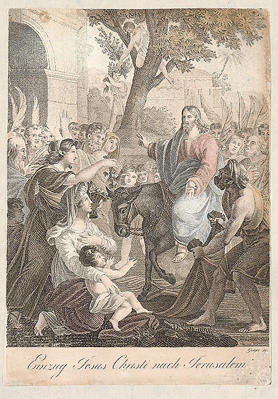 Andreas Geiger - Príchod Krista do Jeruzalema
