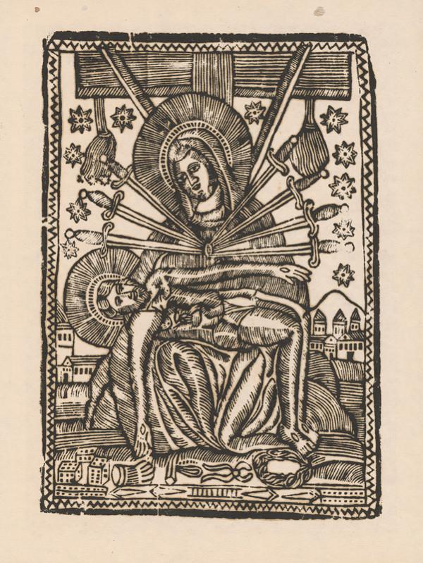 Slovenský grafik z 1. polovice 19. storočia - Pieta