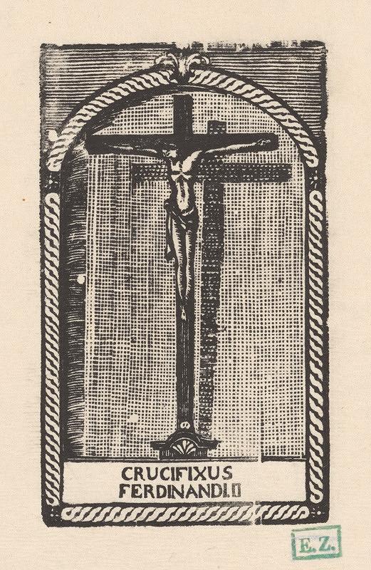 Provinčný grafik s barokovými rezíduami – Crucifixus Ferdinandi II.