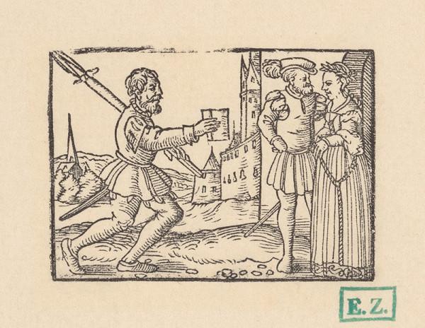 Kopisti, Hans Brosamer – Posol prináša list šľachtickému páru