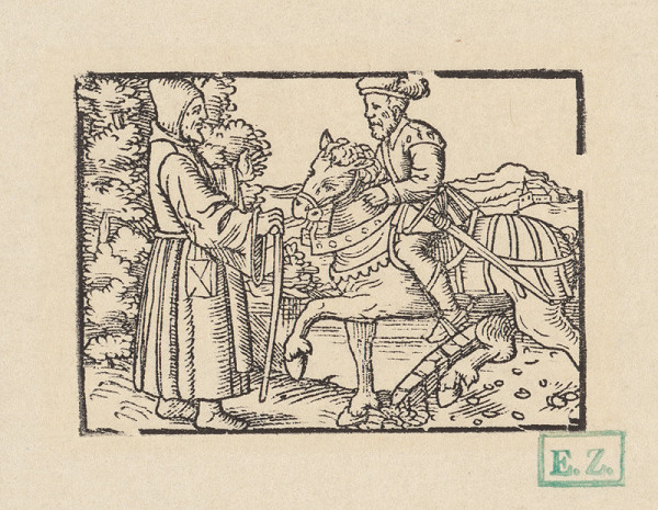 Kopisti, Hans Brosamer - Andolsio a pustovník pod stromom s kúzelnými jablkami