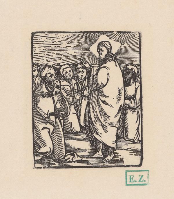 Kopista, Hans Leonhard Schäufelein, Monogramista IS s lopatkou - Uzdravenie slepého