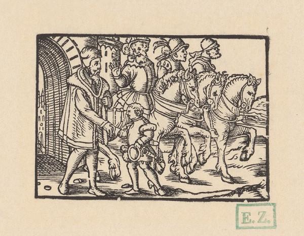Kopisti, Hans Brosamer - Lúčenie s neapolským dvorom