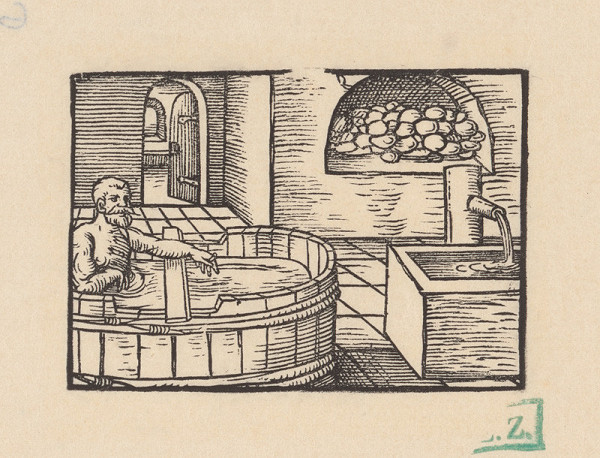 Grafik z okolia tlačiarne Nicolausa Knorra – Kúpeľ