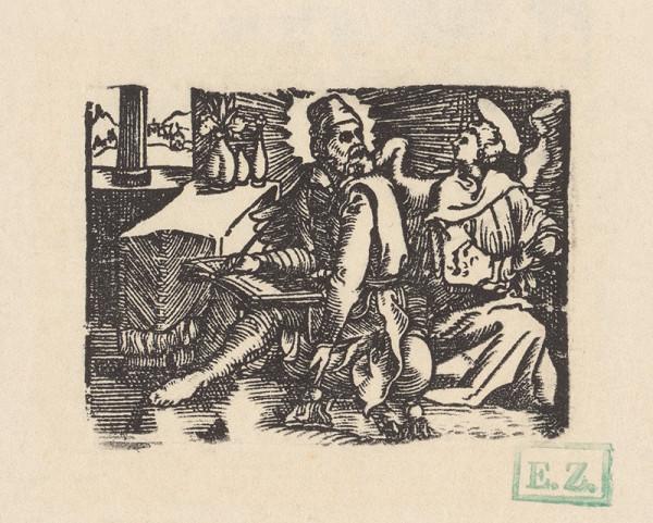 Kopista, Hans Sebald Beham - Svätý Matúš Evanjelista