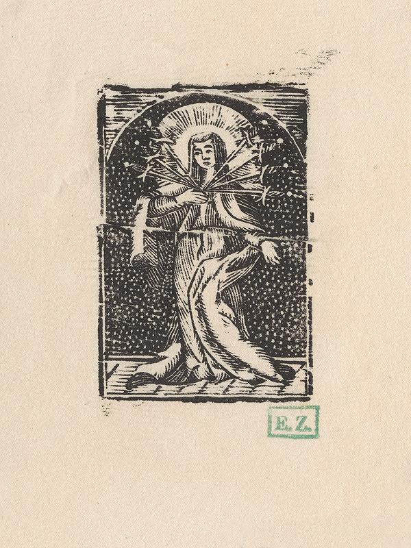 Provinční grafici obľubujúci bodkované pozadie – Sedembolestná Panna Mária