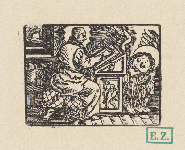 Kopista, Hans Sebald Beham - Svätý Marek Evanjelista