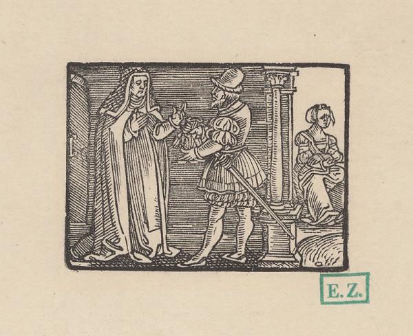 Kopisti, Hans Brosamer - Andolsio dáva Agripinu do kláštora a zveruje ju abatiši