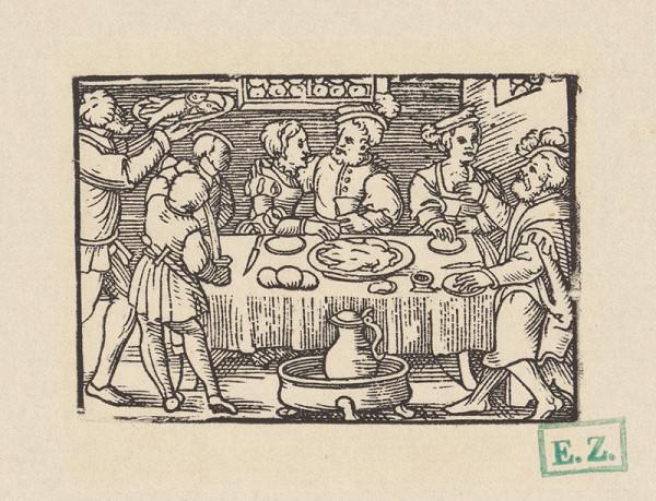 Kopisti, Hans Brosamer - Slávnostná hostina, na ktorej sa servírujú ryby