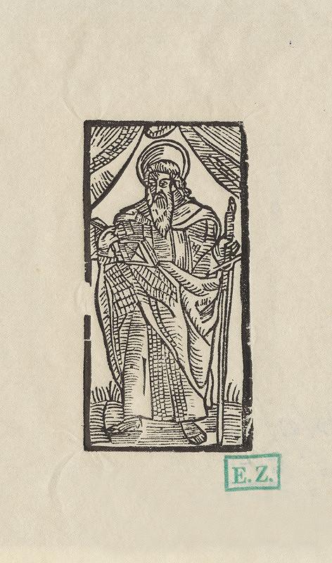 Provinčný grafik preberajúci ikonografický program, Erhard Schön, Hans Springinklee - Svätý Jakub Starší apoštol alebo Svätý Peter