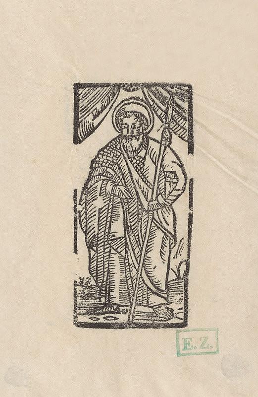 Provinčný grafik preberajúci ikonografický program, Erhard Schön, Hans Springinklee - Svätý Tomáš apoštol