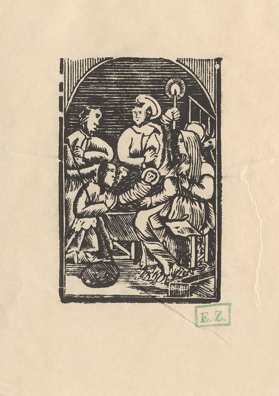 pravdepodobne rezbár Provinčný grafik – Klaňanie pastierov