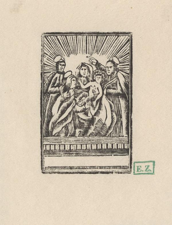 pravdepodobne rezbár Provinčný grafik – Svätá rodina so Svätým Joachimom