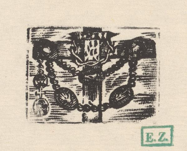 Provinčný grafik s barokovými rezíduami – Bolestný ruženec s piatimi Kristovými ranami