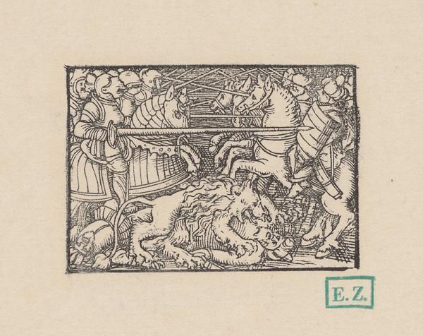 Kopisti, Hans Brosamer - Lev pomáha Bruncvíkovi poraziť orientálne vojsko