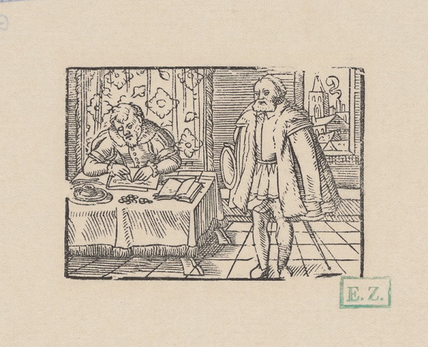 Kopisti, Hans Brosamer – Veriteľ a dlžník