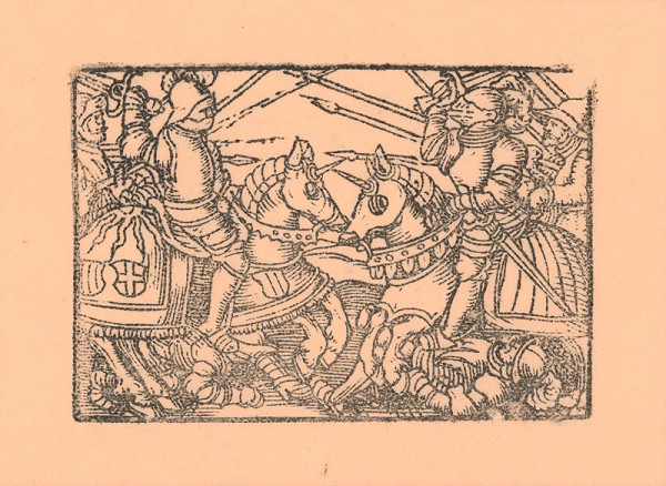 Kopisti, Hans Brosamer - Jazdecký turnaj s kopijami a mečmi s dvoma padlými