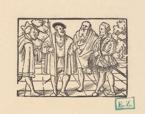 Kopisti, Hans Brosamer - Cisár Oktavián ? v strede svojich radcov