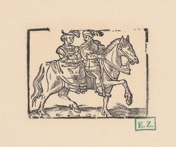 Kopisti, Hans Brosamer – Dáma a rytier na jednom koni