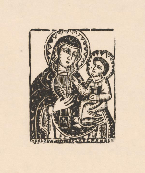 Slovenský grafik z 1. polovice 19. storočia - Obraz Panny Márie z Bolerázu