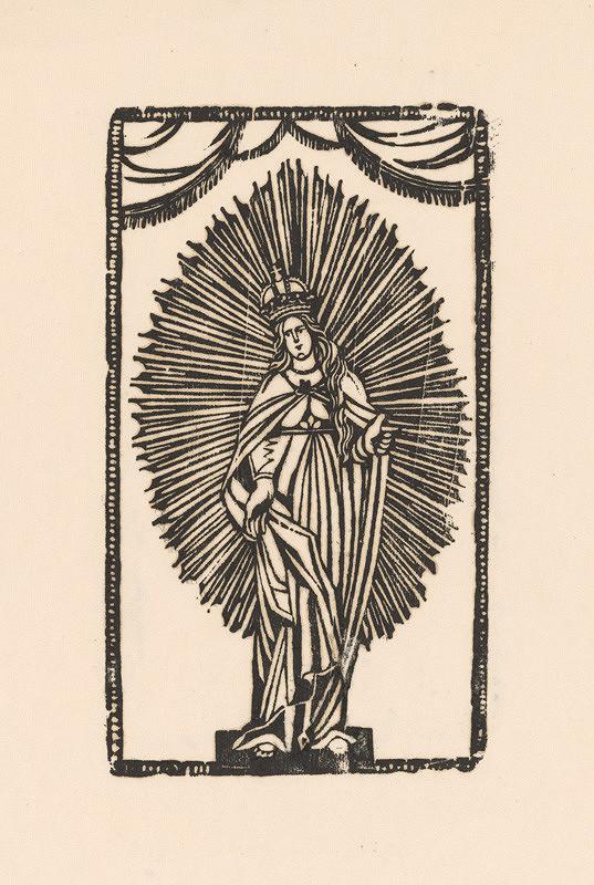 Slovenský grafik z 1. polovice 19. storočia - Svätá Mária - Kráľovná nebies