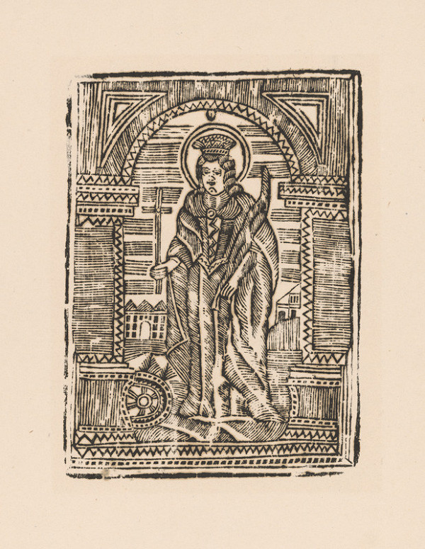 Ukrajinský grafik z 1. polovice 19. storočia – Svätá Katarína