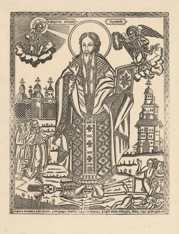 Ukrajinský grafik z polovice 19. storočia - Svätec