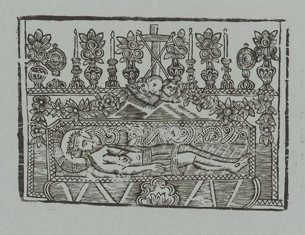 Slovenský grafik z 2. polovice 18. storočia - Kristus v hrobe