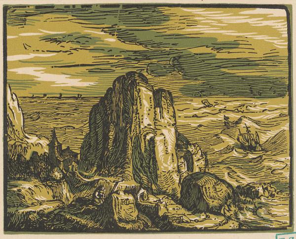 Hendrick Goltzius - Skala pri mori