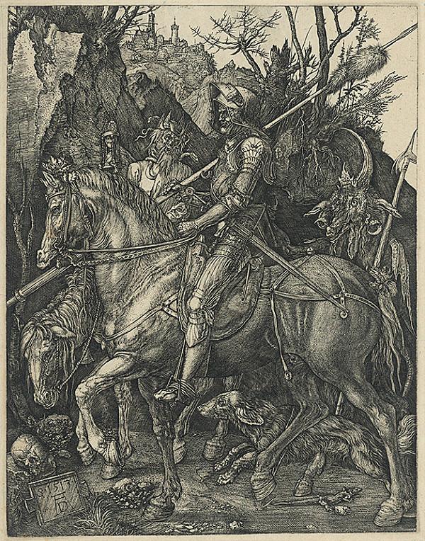 Albrecht Dürer - Rytier, smrť a čert
