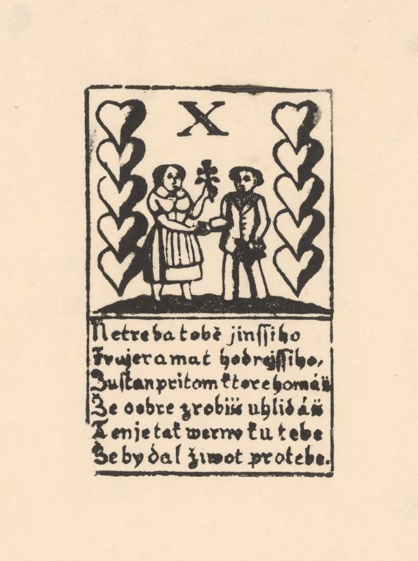 Slovenský grafik z 18. storočia - Hracia karta