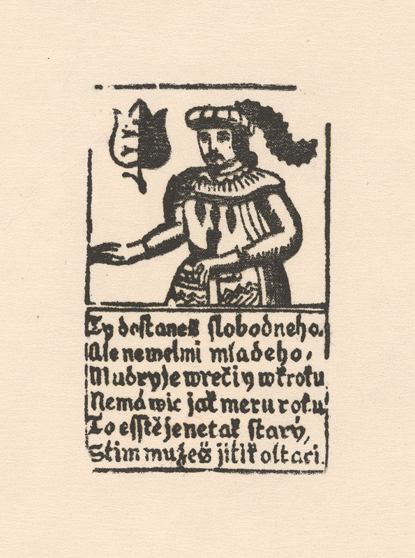 Slovenský grafik z 18. storočia – Hracia karta