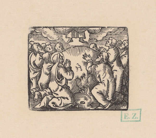 Kopista, Hans Leonhard Schäufelein, Monogramista IS s lopatkou – Nanebovstúpenie