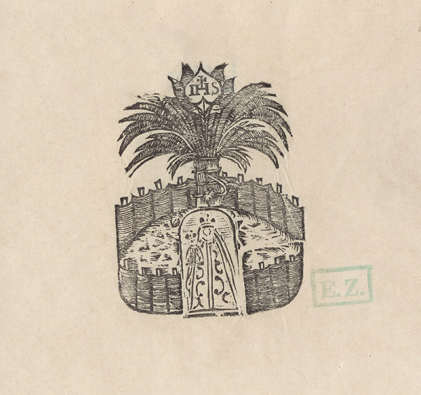 Provinčný grafik – Jezuitský monogram s uzatvorenou záhradou