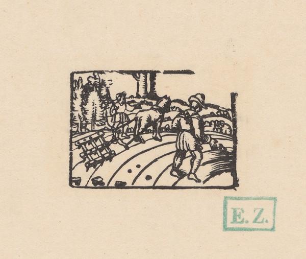 Remeselný kopista, Hans Sebald Beham – Kalendárové záhlavie mesiaca september