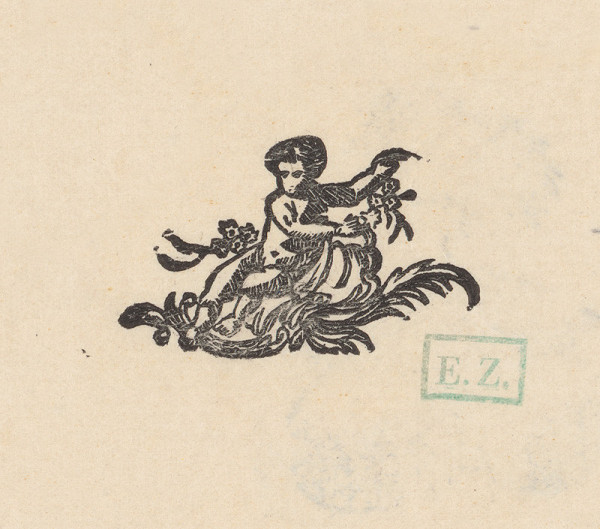 Profesionálny ornamentalista – Ozdobná koncovka s puttom