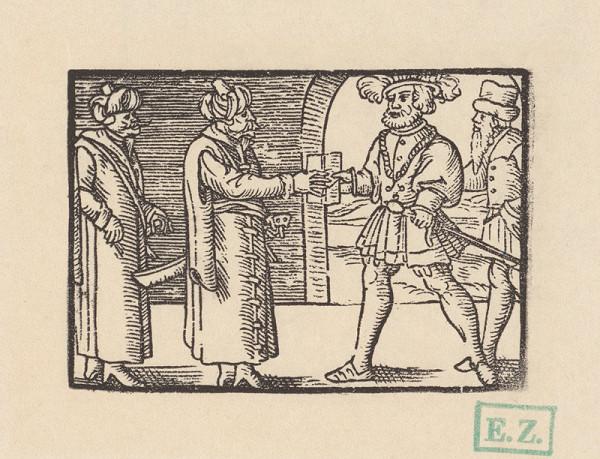 Kopisti, Hans Brosamer – Fortunátus prichádza k sultánovi