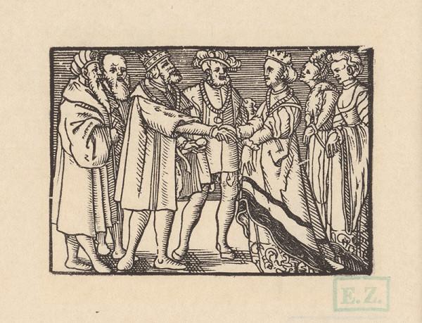 Kopisti, Hans Brosamer – Agripina sa pričinením Fortunátovho mladšieho syna Andolsia vydáva sa za cyperského kráľa