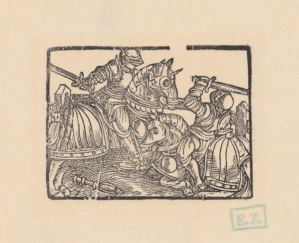 Kopisti, Hans Brosamer - Zápas -tjost- dvoch rytierov