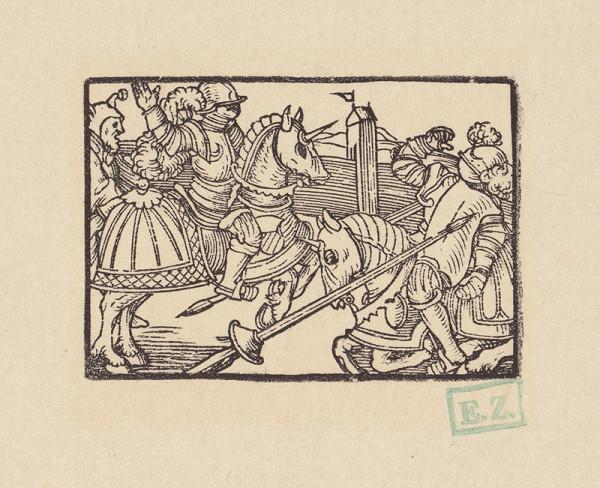 Kopisti, Hans Brosamer - Súboj dvoch rytierov na koňoch za prítomnosti šaša