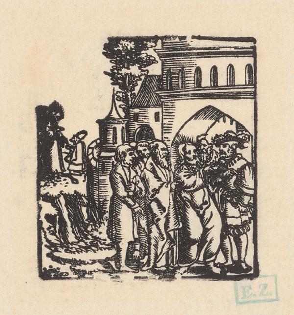 Grafik, Hans Springinklee, Erhard Schön – Uzdravenie stotníkovho sluhu