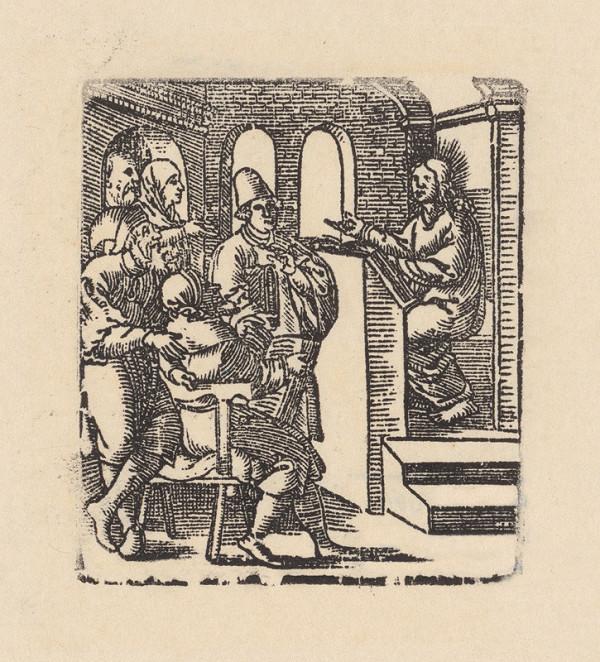 Grafik, Hans Springinklee, Erhard Schön – Dvanásťročný Ježiš v chráme